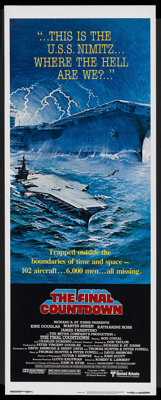 """The Final Countdown (United Artists, 1980). Insert (14"""" X 36""""). Science Fiction"""