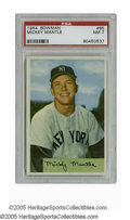 Baseball Cards:Singles (1950-1959), 1954 Bowman Mickey Mantle #65 PSA NM 7. Strong example of this tough card is a must-have for any serious collector of the M...