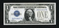 Error Notes:Ink Smears, Fr. 1600 $1 1928 Silver Certificate. About Uncirculated.. ...