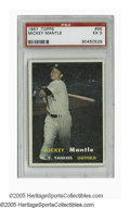 Baseball Cards:Singles (1950-1959), 1957 Topps Mickey Mantle #95 PSA EX 5. Nice example of thisimportant card from Topps' first photographic set....