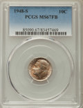 Roosevelt Dimes, 1948-S 10C MS67 Full Bands PCGS. PCGS Population: (114/3). NGC Census: (125/6). Mintage 35,520,000. ...