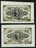 Fractional Currency:Third Issue, Fr. 1251SP 10¢ Third Issue Wide Margin Face About New;. Fr. 1253SP 10¢ Third Issue Wide Margin Face Choice About New.. ... (Total: 2 notes)
