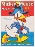 Platinum Age (1897-1937):Miscellaneous, Mickey Mouse Magazine V2#10 (K. K. Publications/Western Publishing Co., 1937) Condition: VG+....