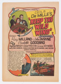 "Golden Age (1938-1955):Miscellaneous, Cinema Comics Herald ""Reap The Wild Wind"" (Paramount, 1942) Condition: FN+...."