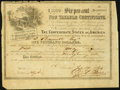 Confederate Notes:Group Lots, Ball 366 Cr. 154 $1000 1864 Six Per Cent Non Taxable Certificate Very Fine.. ...