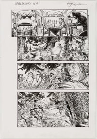 "Michael William Kaluta House of Mystery #20 ""Spellbound"" Story Page 5 Original Art (DC/Vertigo, 2010)"