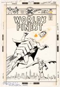 Original Comic Art:Covers, Ernie Chan and John Calnan World's Finest #235 CoverSuperman and Batman Original Art (DC, 1976)....