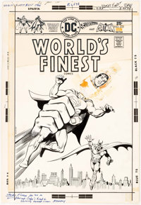 Ernie Chan and John Calnan World's Finest #235 Cover Superman and Batman Original Art (DC, 1976)