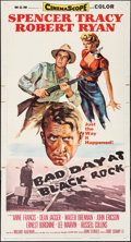 "Movie Posters:Thriller, Bad Day at Black Rock (MGM, 1955). Three Sheet (41"" X 76""). Thriller.. ..."