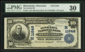 National Bank Notes:Wisconsin, Rhinelander, WI - $10 1902 Plain Back Fr. 633 The Oneida NB Ch. # (M)11646. ...