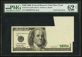 Error Notes:Foldovers, Fr. 2175-B $100 1996 Federal Reserve Note. PMG Uncirculated 62Net.. ...