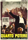 "Movie Posters:Drama, Citizen Kane (Titanus, R-1960s). Italian 4 - Fogli (54.75"" X76.75"").. ..."
