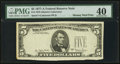 Error Notes:Missing Third Printing, Fr. 1975-? $5 1977A Federal Reserve Note. PMG Extremely Fine 40.. ...