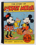 Platinum Age (1897-1937):Miscellaneous, Big Big Book #4062A Mickey Mouse (Whitman, 1935) Condition: Apparent VG....