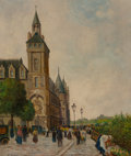 Fine Art - Painting, European:Modern  (1900 1949)  , Émile Saudemont (French, 1898-1967). Parisian Street Scene.Oil on canvas. 21-3/4 x 18 inches (55.2 x 45.7 cm). Signed l...