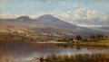 Fine Art - Painting, European:Antique  (Pre 1900), Arthur Bevan Collier (British, 1825-1929). LakesideFarmhouse. Oil on canvas. 28 x 48 inches (71.1 x 121.9 cm).Signed l...