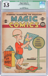 Magic Comics #1 Incomplete (David McKay Publications, 1939) CGC Qualified VG- 3.5 Cream to off-white pages