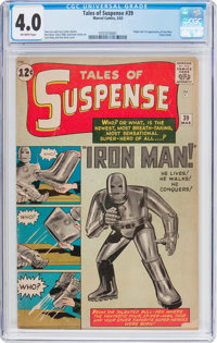 Tales of Suspense #39 (Marvel, 1963) CGC VG 4.0 Off-white pages