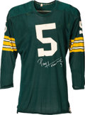 Football Collectibles:Uniforms, Early 1960's Paul Hornung Game Worn Green Bay Packers Jersey -- Multiple Photo Matches!...
