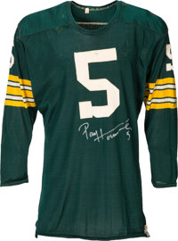 Early 1960's Paul Hornung Game Worn Green Bay Packers Jersey -- Multiple Photo Matches!
