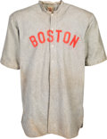 Baseball Collectibles:Uniforms, 1911 Jack Killilay Game Worn Boston Red Sox Jersey, MEARS A7....