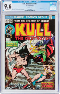 Kull the Destroyer #12 White Mountain Pedigree (Marvel, 1973) CGC NM+ 9.6 White pages