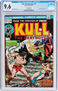 Kull the Destroyer #12 White Mountain Pedigree (Marvel, 1974) CGC NM+ 9.6 White pages