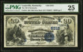 National Bank Notes:Kentucky, Louisville, KY - $20 1882 Date Back Fr. 555 The NB of Kentucky Ch.# (S)5312. ...
