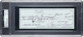 Golf Collectibles:Autographs, 1985 Sam Snead Signed Check PSA/DNA Gem Mint 10....