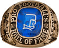 """Football Collectibles:Others, 1978 Pro Football Hall of Fame Induction Ring Presented to Alphonse """"Tuffy"""" Leemans...."""