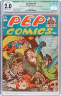 Golden Age (1938-1955):Humor, Pep Comics #34 (MLJ, 1942) CGC Qualified GD 2.0 Cream to off-white pages....