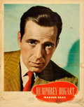 "Movie Posters:Miscellaneous, Humphrey Bogart Personality Poster & Other Lot (WarnerBrothers, Late 1940s). Linen Finish Personality Posters (2) (22"" X28... (Total: 2 Items)"