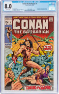Bronze Age (1970-1979):Adventure, Conan the Barbarian #1 (Marvel, 1970) CGC VF 8.0 Off-white pages....