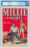 Golden Age (1938-1955):Humor, Millie the Model #1 (Atlas/Marvel, 1945) CGC FN+ 6.5 Cream to off-white pages....