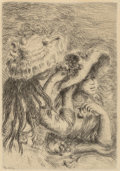 Fine Art - Work on Paper:Print, After Pierre-Auguste Renoir (French, 1841-1919). Le chapeauépinglé, 1984. Etching, second state. 4-5/8 x 3-1/4 inches (...