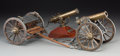 Decorative Arts, Continental:Other , Two Scale Models of Artillery Pieces with Caisson