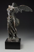 Other, A Grand Tour Bronze of the Winged Victory of Samothrace, after the Antique. Marks: G. Nisini, Rome. 19-5/8 i...