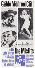 "Movie Posters:Drama, The Misfits (United Artists, 1961). Three Sheet (41"" X 77"").Drama.. ..."