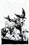 Original Comic Art:Covers, Phil Hester and Ande Parks El Diablo #5 Cover FreedomFighters Original Art (DC, 2009)....