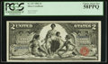 Large Size:Silver Certificates, Fr. 247 $2 1896 Silver Certificate PCGS Choice About New 58PPQ.. ...