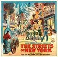 "Movie Posters:Drama, The Streets of New York (Pilot, 1913). Six Sheet (81"" X 82.5"")....."