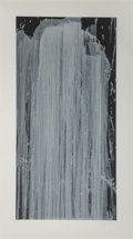 Fine Art - Work on Paper:Print, Pat Steir (b. 1938). Silver Waterfall, 2001. Screenprint incolors. 47-1/2 x 24 inches (120.7 x 61 cm) (image). 56 x 31...