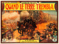 "Movie Posters:Drama, When the Earth Trembled (Lubin, 1913). French Four Panel (124"" X93"").. ..."