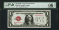 Small Size:Legal Tender Notes, Low Serial Number A00000339A Fr. 1500 $1 1928 Legal Tender Note. PMG Gem Uncirculated 66 EPQ.. ...