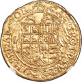 Italy:Naples, Italy: Naples. Charles V gold Scudo ND (1546-1548) MS63 NGC,...