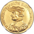 "Switzerland:Zurich, Switzerland: Zurich. City gold ""Zwingli"" Medallic 2 Ducat 1719 MS63 NGC,..."
