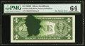 Error Notes:Ink Smears, Fr. 1614 $1 1935E Silver Certificate. PMG Choice Uncirculated 64.. ...
