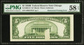 Error Notes:Obstruction Errors, Fr. 1963-G* $5 1950B Federal Reserve Note. PMG Choice About Unc 58EPQ.. ...