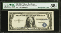 Fr. 1615 $1 1935F Silver Certificate. PMG About Uncirculated 55 EPQ