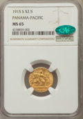 Commemorative Gold, 1915-S $2 1/2 Panama-Pacific Quarter Eagle MS65 NGC. CAC. NGCCensus: (496/702). PCGS Population: (602/499). CDN: $4,300 Wh...